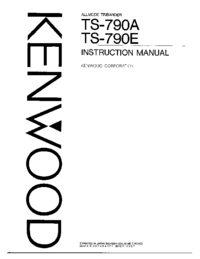 Manual de servicio Kenwood TS-790E