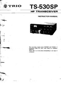 Servicio y Manual del usuario Kenwood TS-530SP