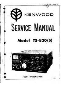 Service- und Bedienungsanleitung Kenwood TS-820