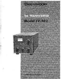 Bedienungsanleitung Kenwood TV-502