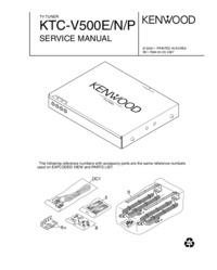 Service Manual Kenwood KTC-V500E