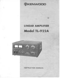 Serviço e Manual do Usuário Kenwood TL-922A