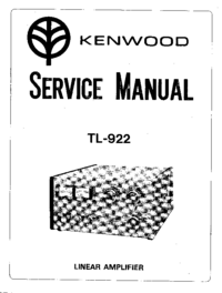Service Manual Kenwood TL-922