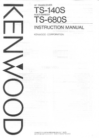Service and User Manual Kenwood TS-140S