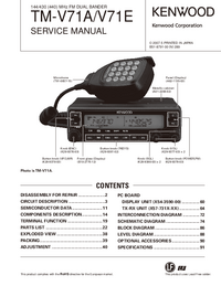 Manual de servicio Kenwood TM-V71E