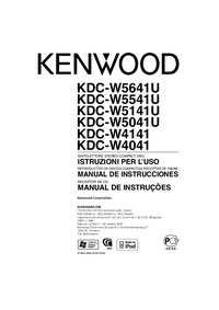 User Manual Kenwood KDC-W5141U