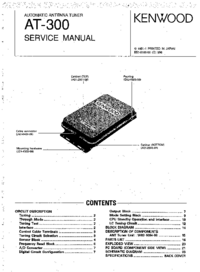 Manual de servicio Kenwood AT-300