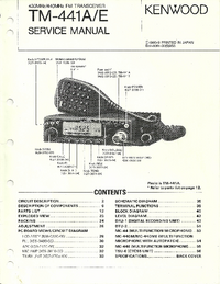 Service Manual Kenwood TM-441A/E