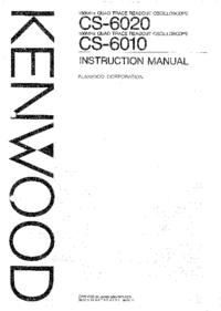 Руководство пользователя Kenwood CS-6020