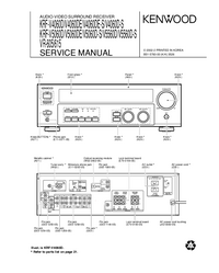 Manual de servicio Kenwood KRF-V4060DE-S