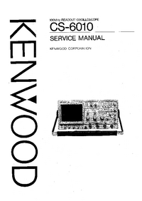 Service Manual Kenwood CS-6010