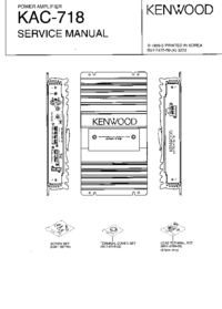 Manual de servicio Kenwood KAC-718