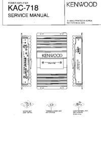 Instrukcja serwisowa Kenwood KAC-718