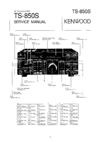 Manual de servicio Kenwood TS-850S