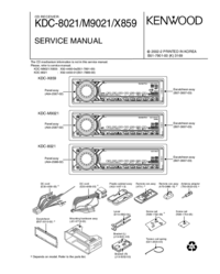 Service Manual Kenwood KDC-X859