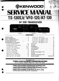 Manual de servicio Kenwood TS-130S