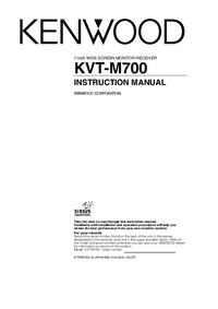 User Manual Kenwood KVT-M700