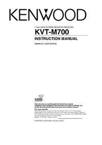 Manuale d'uso Kenwood KVT-M700