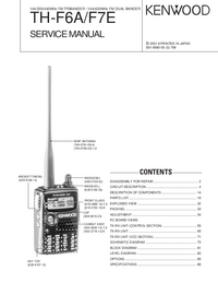 Service Manual Kenwood TH-F6A