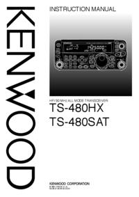 Manuel de l'utilisateur Kenwood TS-480SAT