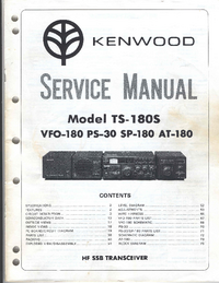 Manual de servicio Kenwood SP-180
