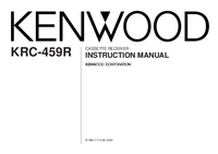 User Manual Kenwood KRC-459R