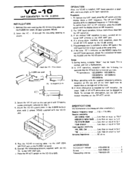 Service Manual Kenwood VC-10
