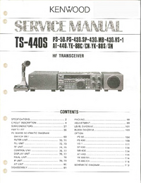 Manual de servicio Kenwood TS-440S