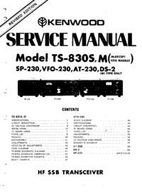 Manual de servicio Kenwood TS-830S