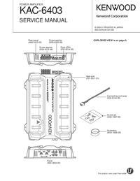 Service Manual Kenwood KAC-6403