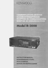 User Manual Kenwood R-2000