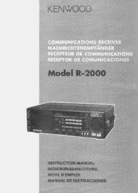 Gebruikershandleiding Kenwood R-2000