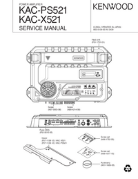 Manual de servicio Kenwood KAC-X521