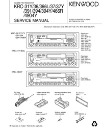 Manual de servicio Kenwood KRC-394Y