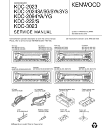 Service Manual Kenwood KDC-2024SYG