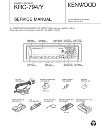 Manual de servicio Kenwood KRC-794Y