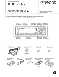 Servicehandboek Kenwood KRC-794Y