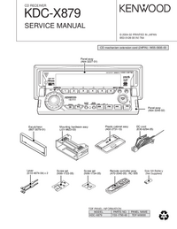 Service Manual Kenwood KDC-X879