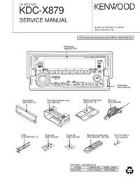 Manual de serviço Kenwood KDC-X879