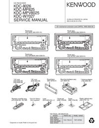 Service Manual Kenwood KDC-MP825