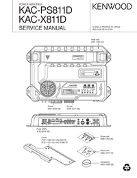 Manual de servicio Kenwood KAC-PS811D