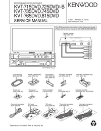 Manual de servicio Kenwood KVT-745DVD