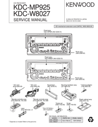 Servicehandboek Kenwood KDC-MP925