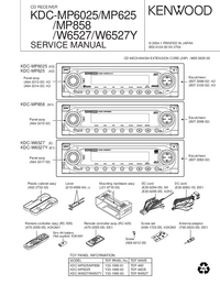 Manual de servicio Kenwood KDC-MP858