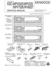 Manual de servicio Kenwood KDC-MPV525