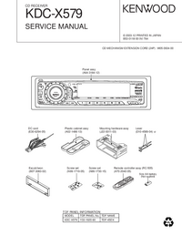 Service Manual Kenwood KDC-X579