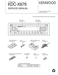 Service Manual Kenwood KDC-X679
