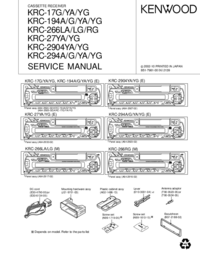 Service Manual Kenwood KRC-194 G