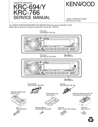 Service Manual Kenwood KRC-694 Y