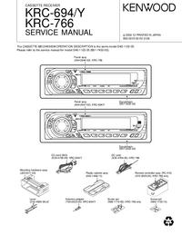 Manual de servicio Kenwood KRC-694